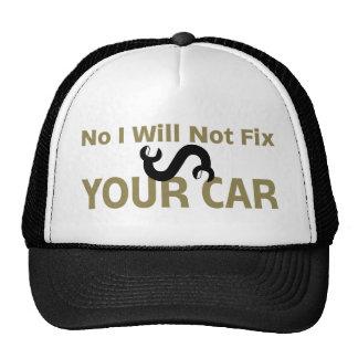 Ningún no fijaré su coche gorras de camionero