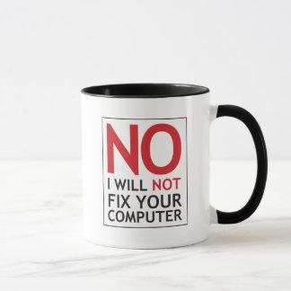 Ningún no fijaré su ordenador