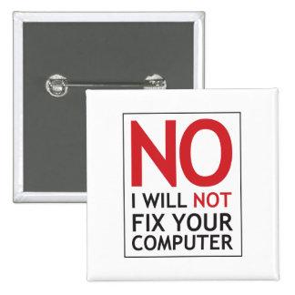 Ningún no fijaré su ordenador pin