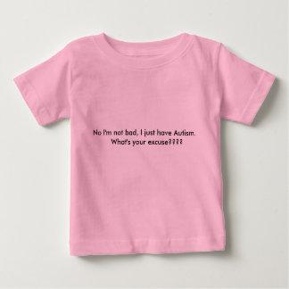 Ningún no soy malo, yo apenas tengo autismo.   playera de bebé