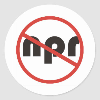 Ningún NPR Etiqueta Redonda