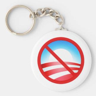 Ningún Obama 2012 Llavero Redondo Tipo Pin