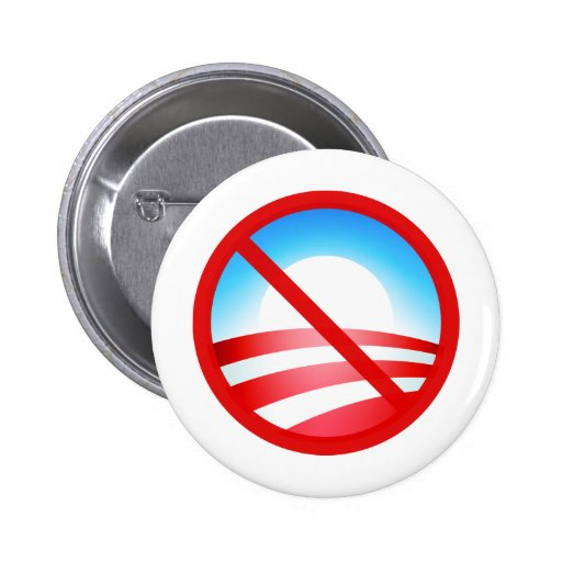 Ningún Obama 2012 Pin