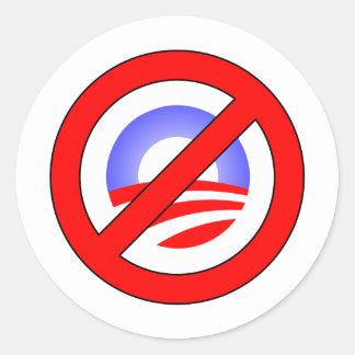 Ningún Obama bastante que sí Romney Pegatina Redonda