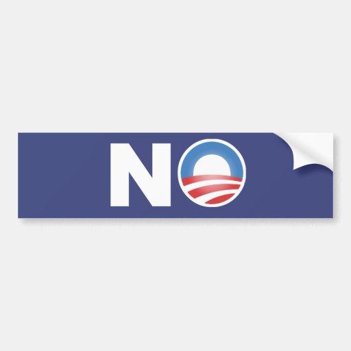 Ningún Obama en 2012 Pegatina Para Auto