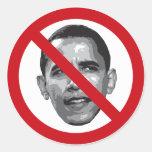 Ningún Obama Etiquetas Redondas