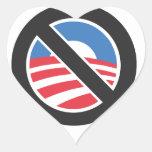 Ningún Obama Calcomanías De Corazones Personalizadas