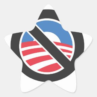 Ningún Obama Pegatina En Forma De Estrella