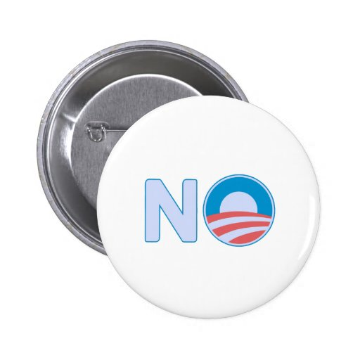 Ningún Obama Pin Redondo De 2 Pulgadas