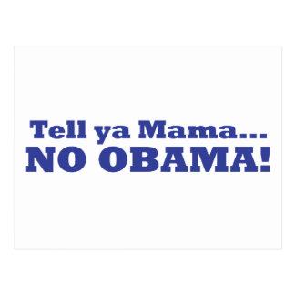 ¡Ningún Obama! Postal