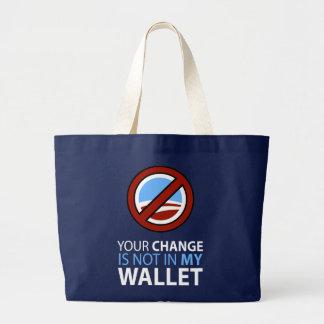 Ningún Obama Su cambio no está en mi cartera Bolsas