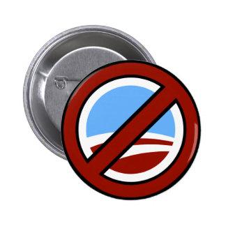 Ningún Obama Su cambio no está en mi cartera Pins