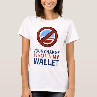 Ningún Obama: Su cambio no está en mi cartera Playera
