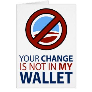 Ningún Obama: Su cambio no está en mi cartera Tarjeton