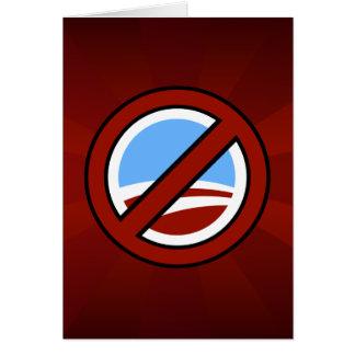 Ningún Obama: Su cambio no está en mi cartera Tarjetas