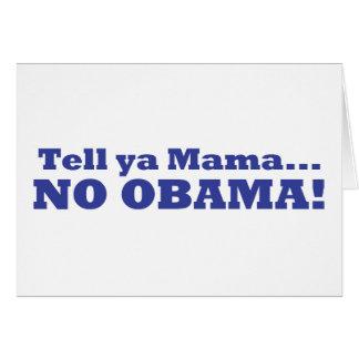 ¡Ningún Obama! Tarjeta