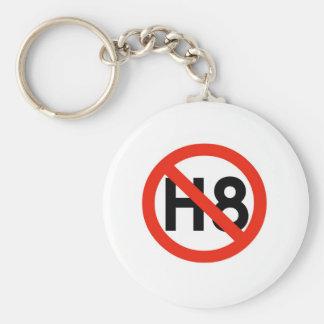 Ningún odio (H8) Llavero Redondo Tipo Pin
