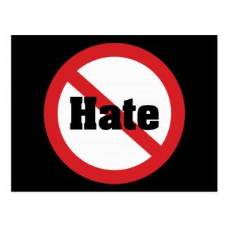 Ningún odio tarjetas postales