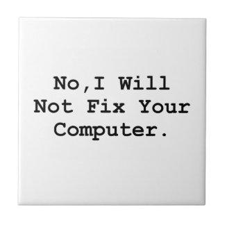 Ningún ordenador del arreglo azulejo cuadrado pequeño