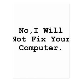 Ningún ordenador del arreglo tarjetas postales