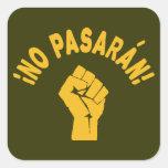Ningún Pasaran - no pasarán Colcomanias Cuadradass