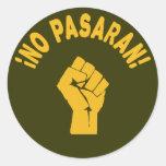 Ningún Pasaran - no pasarán Pegatina Redonda