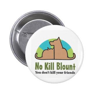 Ningún pdf más oscuro del logotipo de Blount de la Pin Redondo 5 Cm