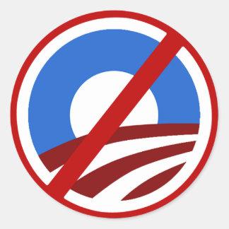 Ningún pegatina anti de Obama de la muestra de O