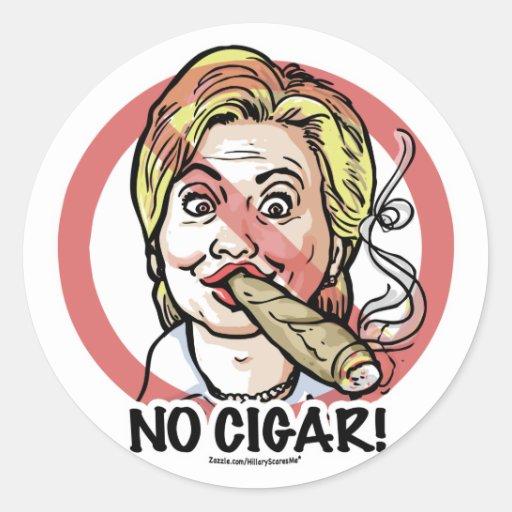 Ningún pegatina de Anti-Hillary del cigarro