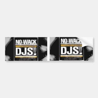 Ningún pegatina de DJs del Wack Pegatina Para Auto