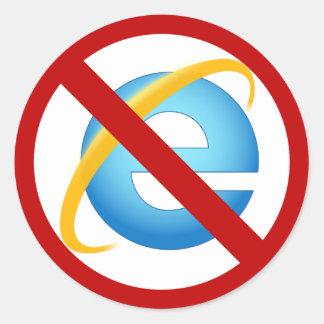 Ningún pegatina de Internet Explorer (movimiento
