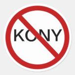 Ningún pegatina de Kony
