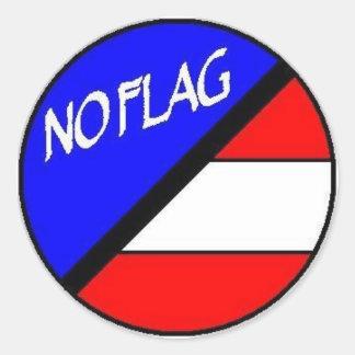 Ningún pegatina de la bandera