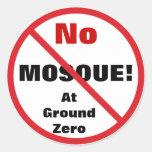 Ningún pegatina de la mezquita