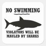 Ningún pegatina de la natación