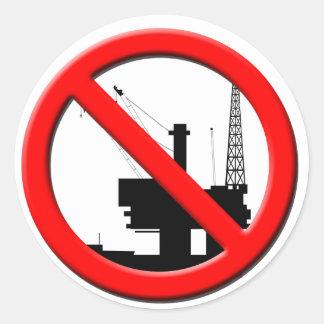 Ningún pegatina de la perforación petrolífera en
