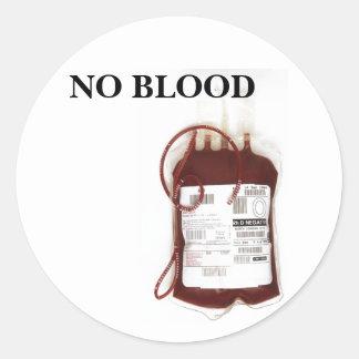 Ningún pegatina de la sangre