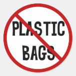 Ningún pegatina de las bolsas de plástico