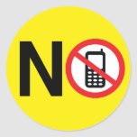 Ningún pegatina de los teléfonos celulares