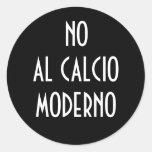 NINGÚN PEGATINA DEL AL CALCIO MODERNO