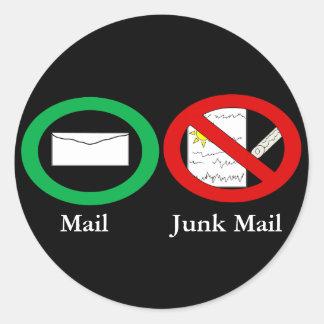 Ningún pegatina del correo basura