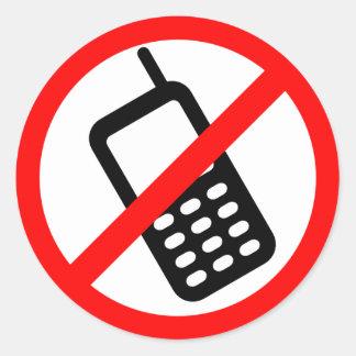 Ningún pegatina del teléfono celular