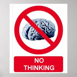 Ningún pensamiento permitido póster
