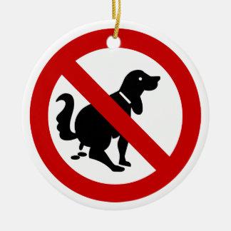 NINGÚN perro que ensucia el ⚠ tailandés de la Adorno Navideño Redondo De Cerámica
