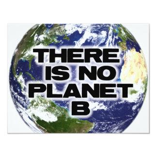 """Ningún planeta B Invitación 4.25"""" X 5.5"""""""