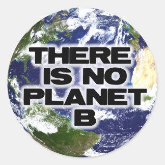 Ningún planeta B Pegatina Redonda