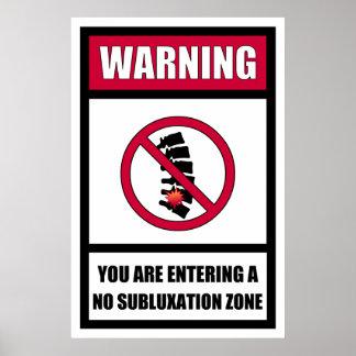 Ningún poster de la zona del Subluxation
