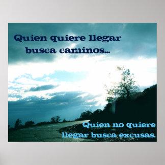 ¡Ningún poster de las excusas - español!