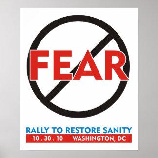 Ningún poster del miedo póster