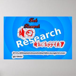 Ningún poster necesario de la investigación